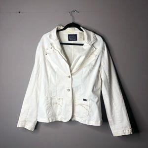 Levi's white jean jacket blazer size xl 16/18